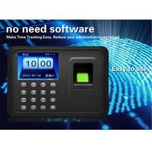 2,4 дюймов sers биометрический пробойник отпечатков пальцев usb Время часы офис посещаемость рекордер времени сотрудников машина считыватель