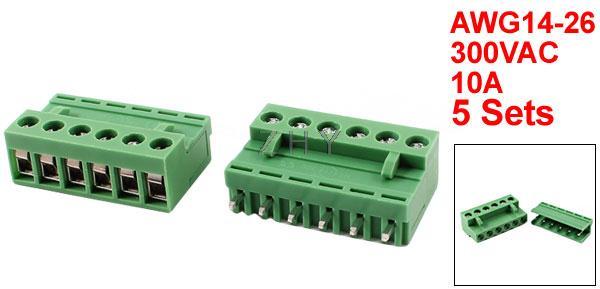 Sourcingmap/® 50/pcs 2/broches bornier /à vis 3,5/mm Pitch PCB /à panneau plat Vert