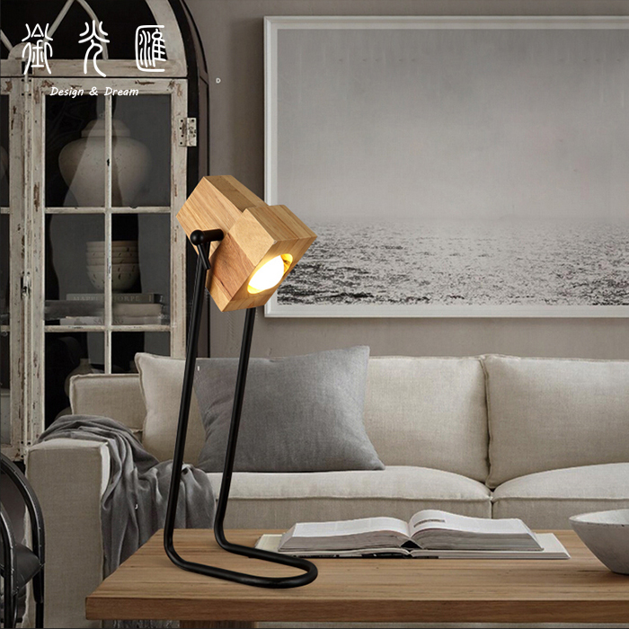 The simplicity of modern creative personality dormitory bedroom desk bedside decoration art table lamps LO72910