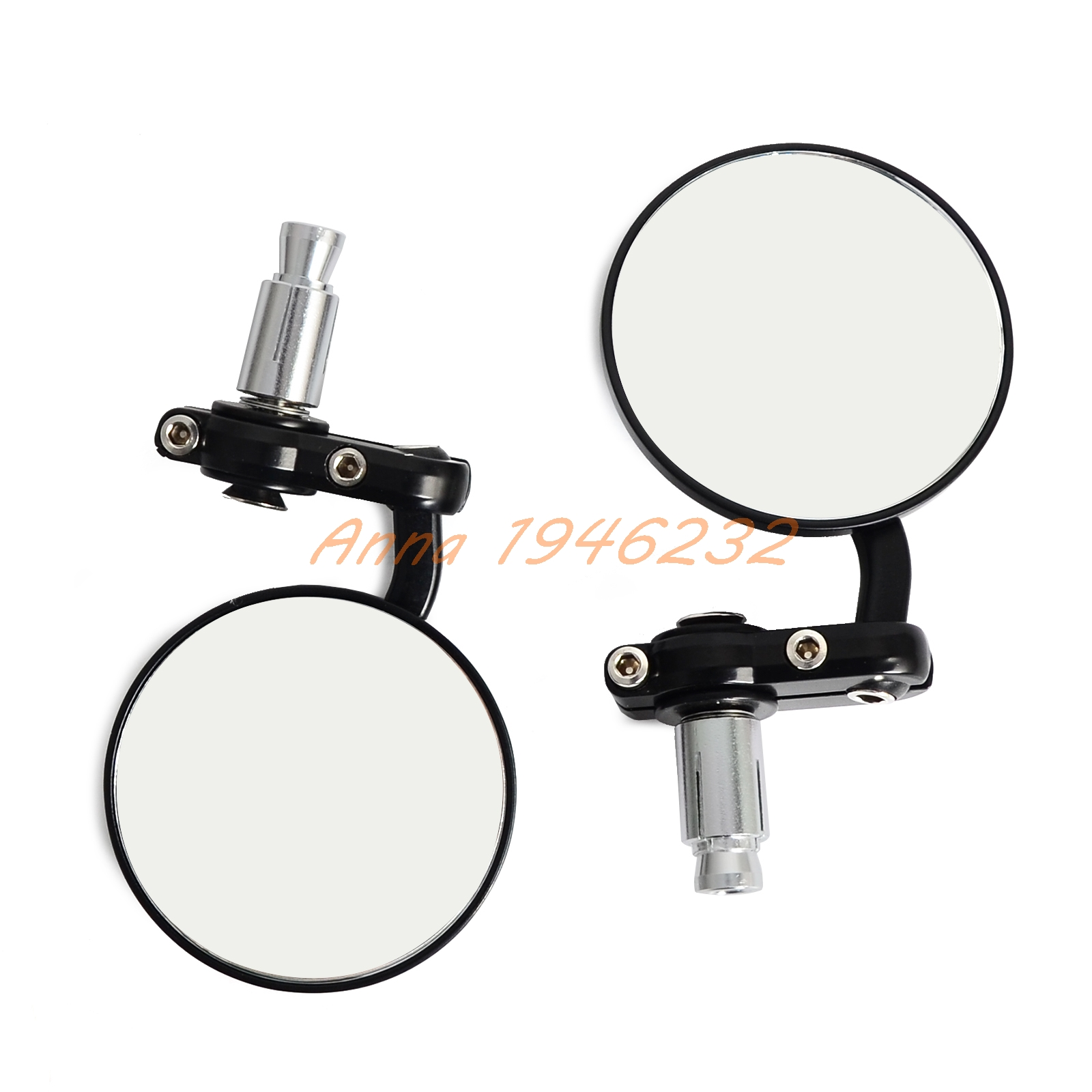 Motorcycle Black 7/8 Round Bar End Rear Mirrors Moto Motorcycle Motorbike Scooters Rearview Mirror Side View Mirrors Cafe Racer