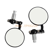 Motorcycle Black 7 8 Round Bar End Rear Mirrors Moto Motorcycle Motorbike Scooters Rearview Mirror Side