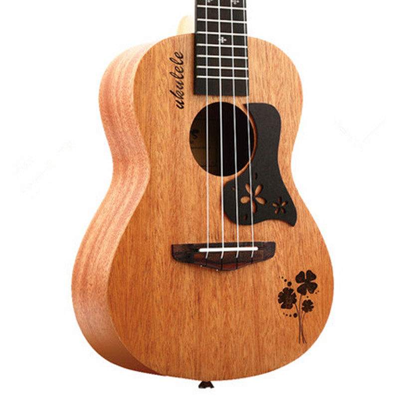23 inch 18 Fret 4 Strings Hawaii Small Guitar Mahogany Ukulele Concert Ukulele Fingerboard Hawaiian Guitarra ukulele 23 inch four string small guitar hawaii travel little guitar mahogany child guitar