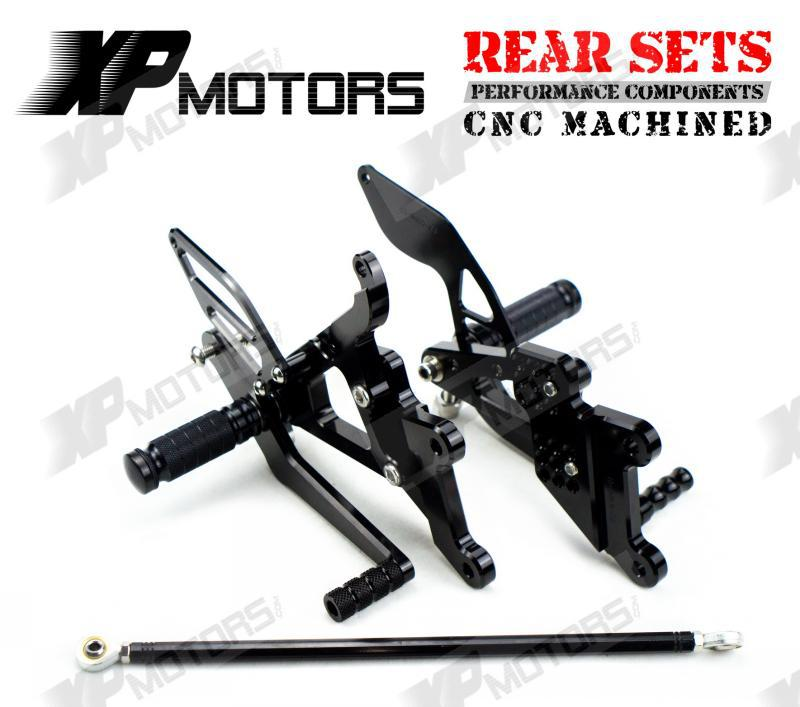 Racing Adjustable Foot pegs Rearset Rear Sets For Yamaha YZF-R6 2003 2004 2005 R6S 2006 2007 2008 2009 Black nicecnc adjustable short brake clutch levers for yamaha yzf r6 2005 2016 yzf r1 2004 2008 r6s 2006 2007 motocross dirt bike