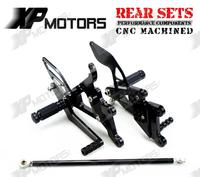 Racing Adjustable Foot pegs Rearset Rear Sets For Yamaha YZF R6 2003 2004 2005 R6S 2006 2007 2008 2009 Black