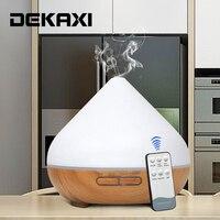 DEKAXI 300 ml Umidificador de Ar Ultra Aroma Difusor Difusor do Óleo Essencial de Controle Remoto com Luzes LED para Home Office