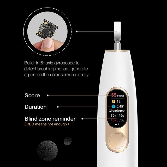 Versão global oclean x sonic escova de dentes elétrica atualizado à prova dusb água ultra sônico automático usb recarregável