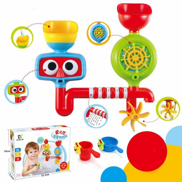Linda Banheira Portátil Sistema de Aspersão de Água Brinquedo Brinquedo Das Crianças Das Crianças presente Engraçado Brinquedos de Banho brinquedos de Banho Do Bebê À Prova D' Água na Banheira G