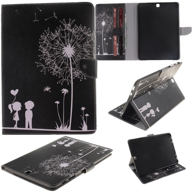 2 Sides Painted Tablet Case For Samsung Galaxy Tab S2 9.7\'\' T815SM -T810 Case Wallet Flip PU Leather Cover for Clever Gilrs Boy (49)