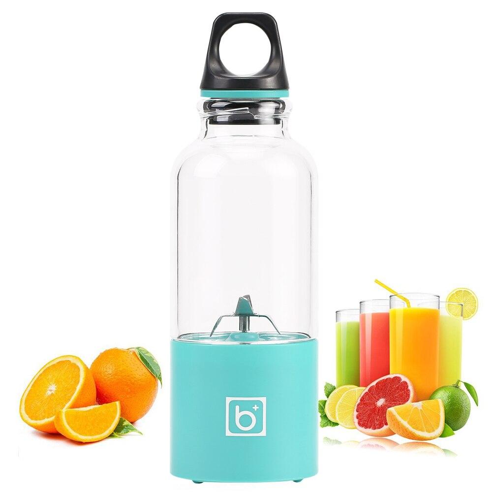 500ml 4 blade portable blender juicer machine mixer electric mini usb food processor  juicer smoothie blender cup maker juice 3