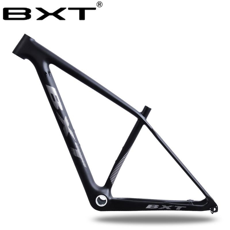 2018 BXT nouvelle T800 carbone cadre 29er vtt vtt cadre BSA Frein À Disque Conique vélo cadre factory outlet vélo pièces