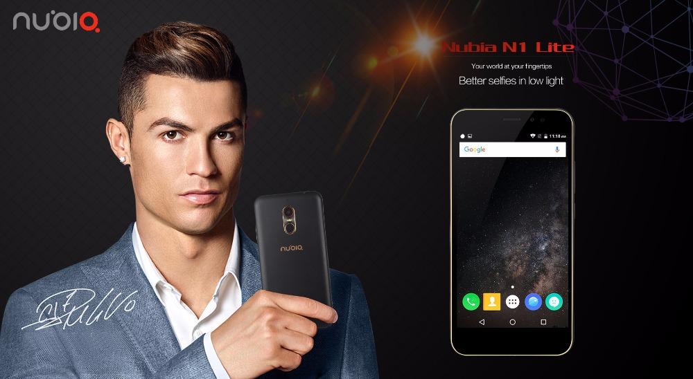 Nubia N1 Lite NX597J 5.5inch HD Mobile Phone MT6737 Quad Core 2GB RAM 16GB ROM 4G FDD LTE 13MP 3000mAh Android 6.0 Fingerprint