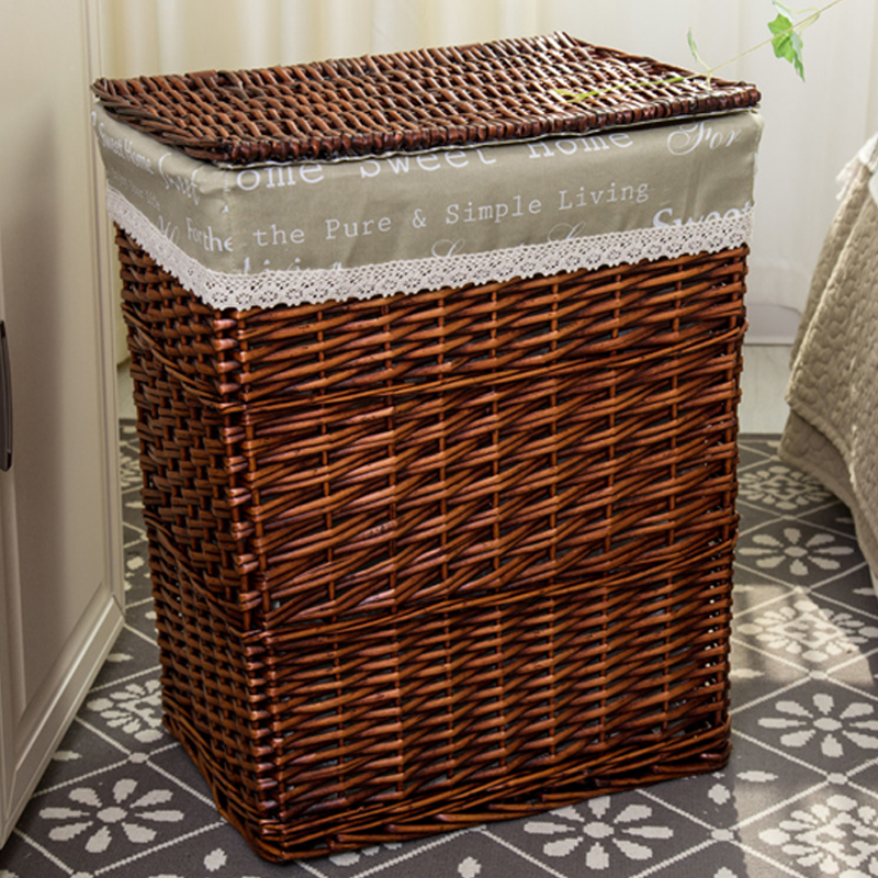 Merveilleux 2018 Wicker Storage Basket Rattan Hamper Laundry Basket Toy Clothes Storage  Box With Lid M L Available In Storage Baskets From Home U0026 Garden On ...