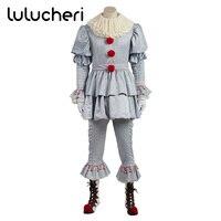 Stephen King's It Косплэй Pennywise таможенные женщина Хэллоуин террор костюм клоуна ужасный костюм для мужчины и женщины