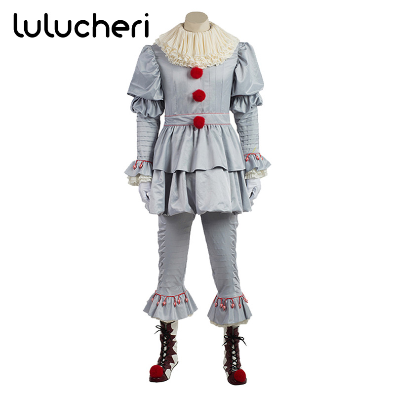 Stephen King's It Cosplay Pennywise Custome Woman Halloween Terror Costume Clown Horrible Costume Suit for Man and Woman