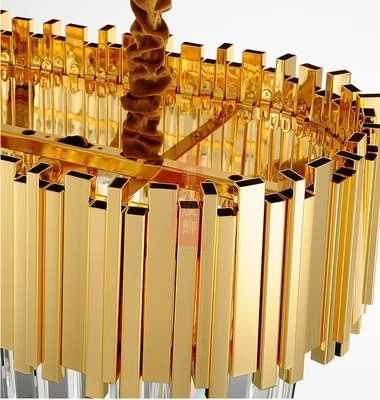 Nova Iluminação Moderna Do Candelabro Luxuoso Ouro do Candelabro de Cristal para Sala de estar Sala de Jantar Lustre De Cristal Luzes LED