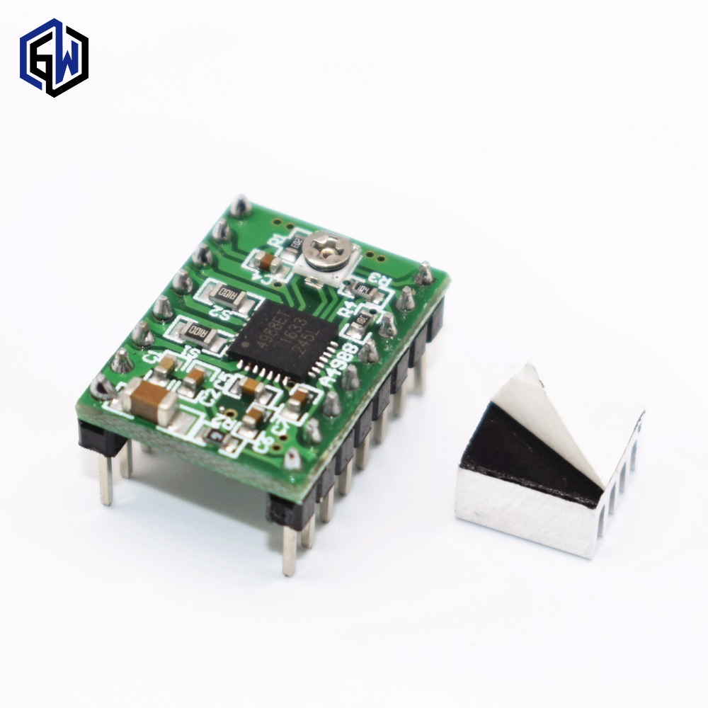 50sets reference Stepper Driver A4988 Stepper Motor Driver Module with Heatsink for arduino