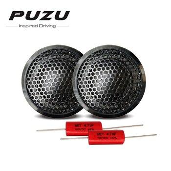 Puzu PZ-B25 2 uds de la motocicleta del coche altavoz HiFi Gama Completa impermeable automático altavoz de agudos para automóvil negro 25mm cuerno altavoz