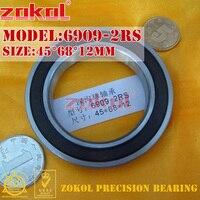 ZOKOL 6909RS bearing 6909 2RS 1000909 (61909) 6909-2RS Deep Groove ball bearing 45*68*12mm