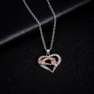 Новый Детский семейный Кулон в виде сердца с кубическим цирконием, ожерелье с подвеской в виде сердца для мамы, ювелирное изделие для мамы, подарок на день рождения, День матери