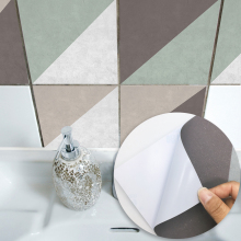 Funlife Self adhesive Waterproof Concrete Slanting Lattice Tiles  Kitchen bathroom Furniture Tile Sticker 15*15cm/20*20cm TS041