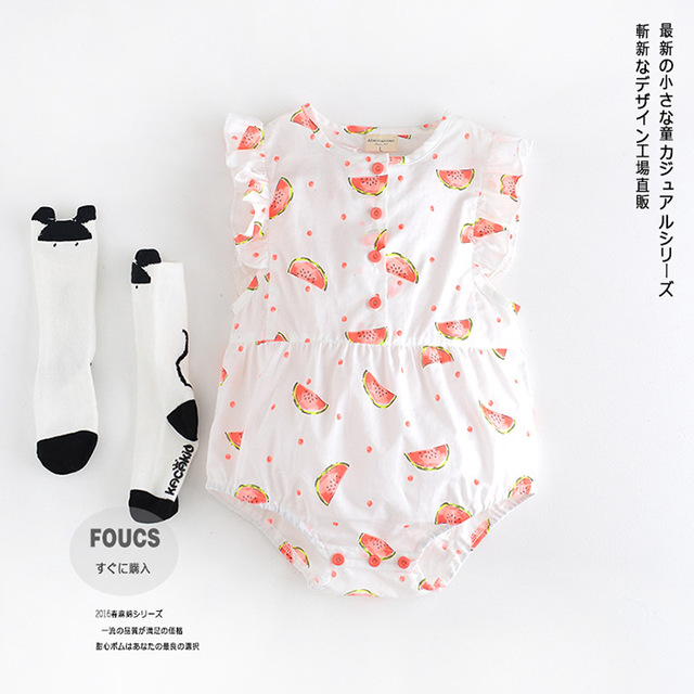 6-24M Baby clothes 2016 Summer Baby girls Body Suit watermelon Bobo choses Rompers Newborn Jumpsuits for infantil clothing
