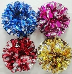 High quality cheerleading pompoms 20 pieces lot Cheering pompons Cheerleader supplies Color and handle can choose
