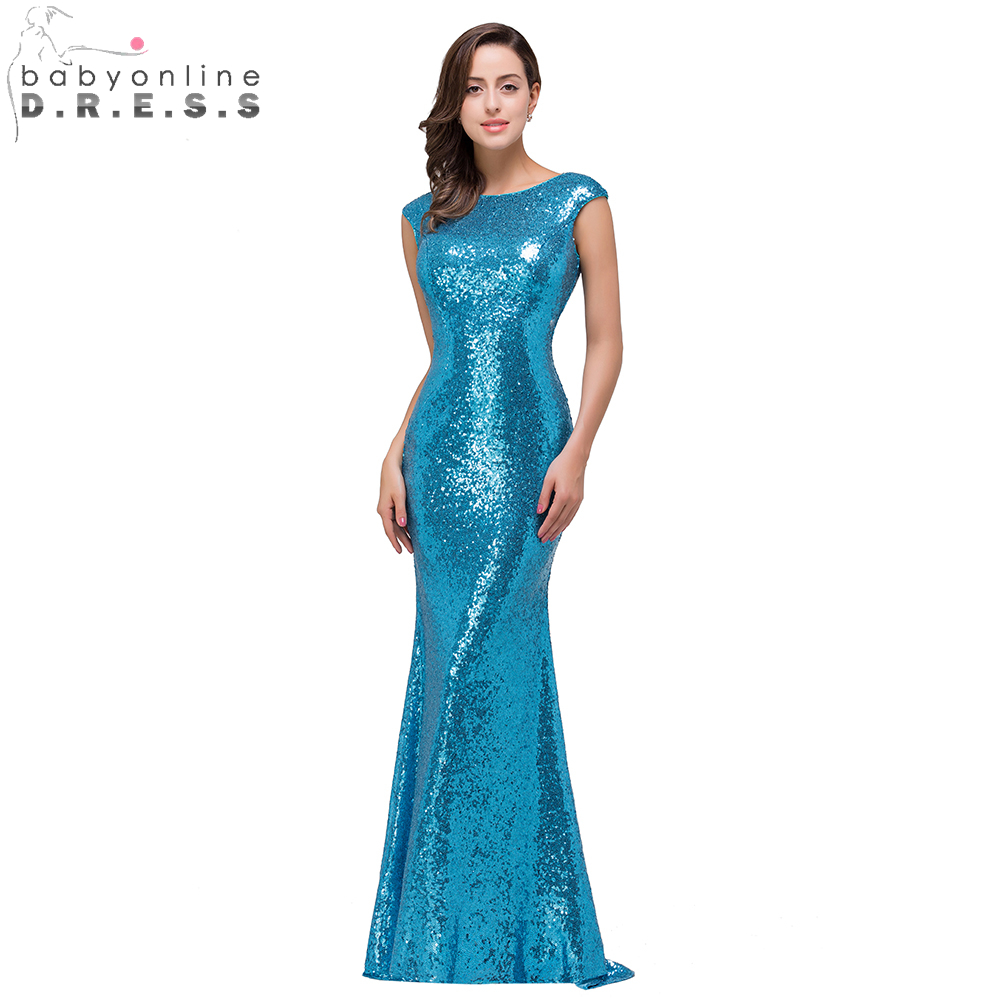 Blue Shiny Prom Dresses - Prom Dresses Vicky