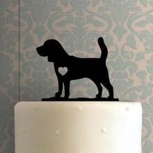 Собака Бигль торт Топпер, милая собака Силуэт торт Топпер, уникальный торт Топ украшение