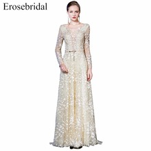 2019 Long Sleeve Prom Dresses Erosebridal A Line Formal