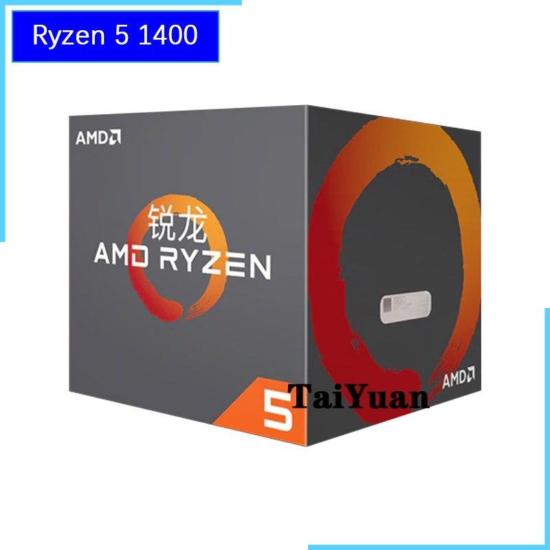 AMD Ryzen 5 1400 R5 1400 3 2 GHz Quad Core CPU Processor YD1400BBM4KAE Socket AM4