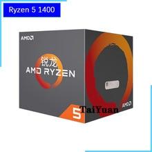 AMD Ryzen 5 1400 R5 1400 3.2 GHz Quad Core processeur dunité centrale YD1400BBM4KAE Prise AM4