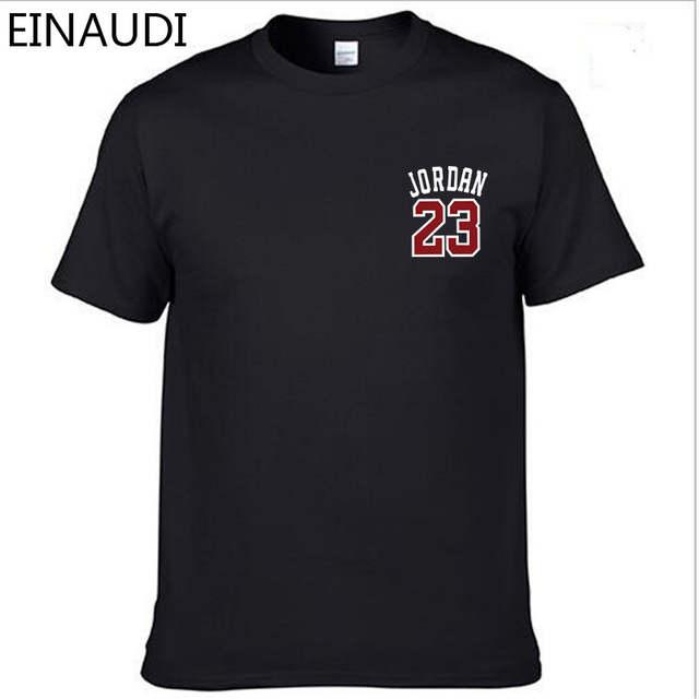 new concept 45c84 097be Online Shop EINAUDI Cotton Michael Jordan 23 Mens T Shirts Fashion 2018  Short Sleeve Couple T-shirts Design Jordan Tops Tees 2XL   Aliexpress Mobile