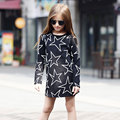 2016 New Arrival spring and autumn girl dress print baby girl dress children clothing children dress