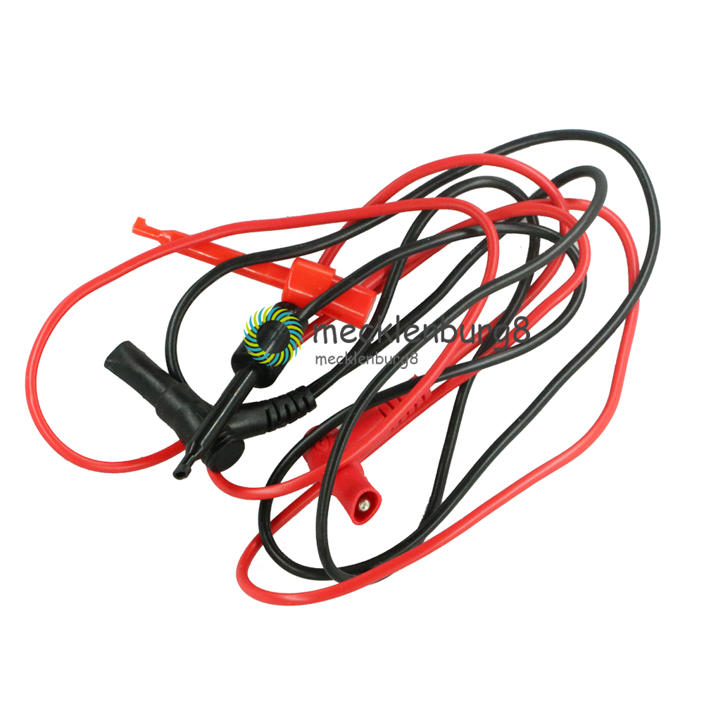 C18 New Banana Plug To Tests Hook Clip Probe Cable For Multimeter Equipment Tests