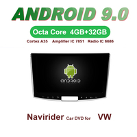 Navirider GPS Android 9.0 bluetooth stereo 4 Core 8 Core car DVD player for PASSAT B7 CC 2012 15 head unit autoradio accessories