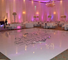Wedding Floor Sticker Personalised Name Vinyl Removable Floor Decals Custom Size Available Wedding decor Party floor  ZA100C