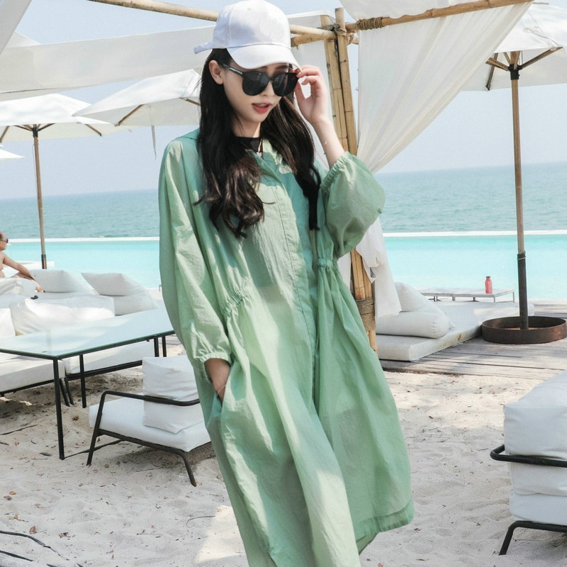 New 2020 Summer Hooded Blouse Long Women Tops Sunscreen Blouses Lady Batwing Sleeve Loose Shirt Beach Shirts Clothing Blusas