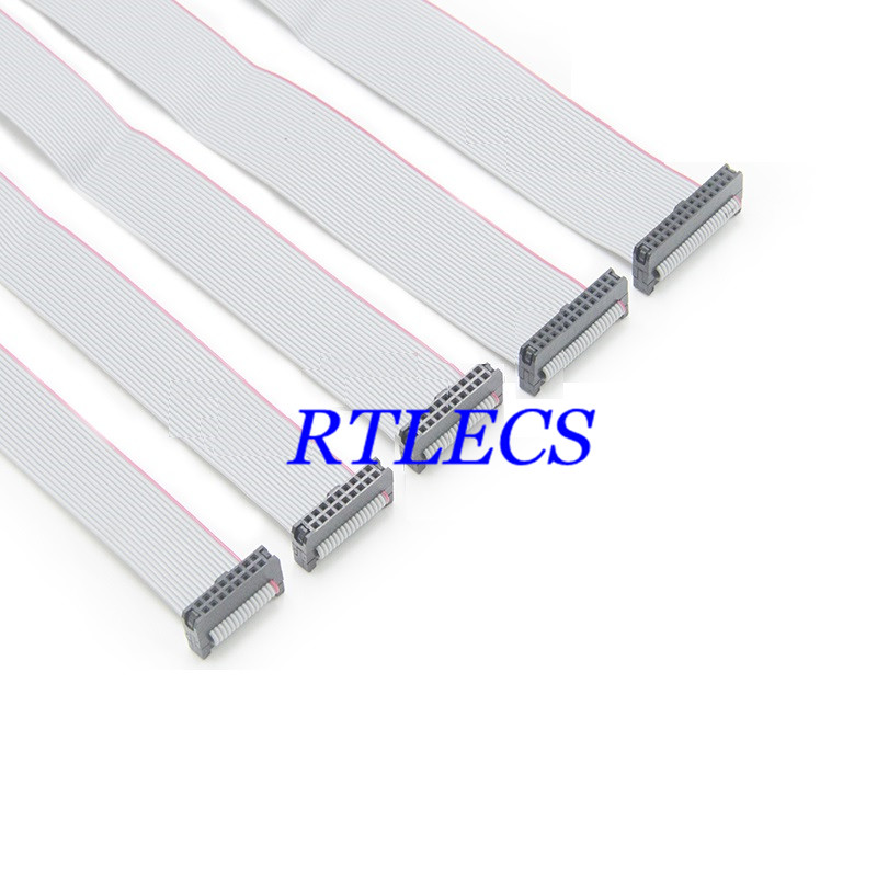 IDC Wire Flat Ribbon Cable FC//FC Connector A-type 60Pins 2.54mm Pitch 30cm Long