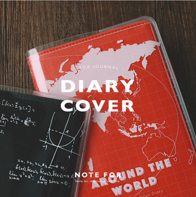 1pc A6/a5 Pvc Cover Diy Diary Journal Papelaria Stationery Cute Uv Print Pvc Waterproof Transparent Notebook Diary Cover