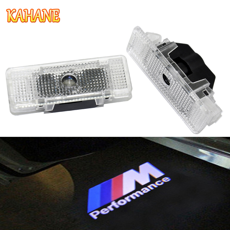 KAHANE 2x LED Car Door Light Courtesy Laser Projector Logo Ghost Shadow Light FOR BMW E39 X5 E53 E52