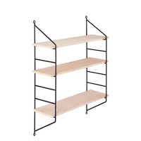 Nordic Three Layer Iron Shelf Creative Wooden Multi Function Storage Holders Racks Bathroom Organizer Home Storage Organization