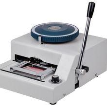 72-символ/письмо карточка из ПВХ с именем Presser тиснение машина