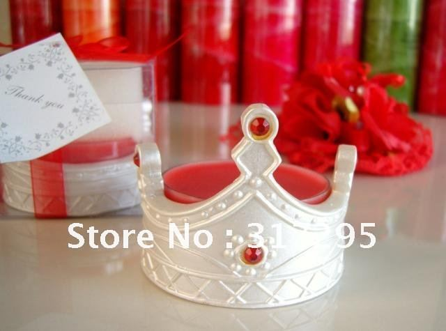 3 pcs/lot The new European crown candles scented candles smokeless candles Candle Wedding Favor [white]