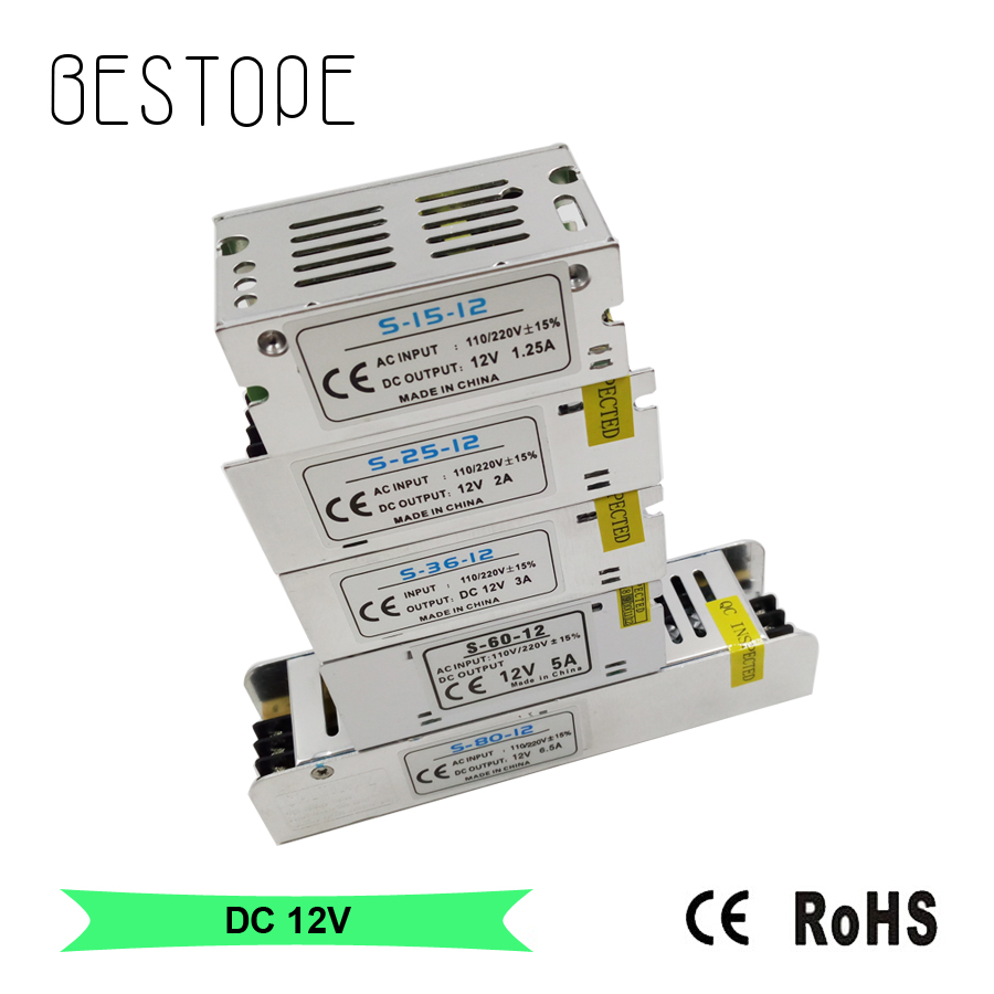 BESTOP DC <font><b>12V</b></font> Led Driver 1.25A 2A 3A 5A 78W 10A 15A 25A AC <font><b>110V</b></font>-220V Converter <font><b>power</b></font> Adapter DC <font><b>12V</b></font> <font><b>Power</b></font> <font><b>Supply</b></font> For Led Strip image