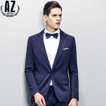 Antszone High Quality 2015 Men Spring Super Slim Casual Business Wedding Party Gentleman Suits Jackets Fashion Retro Blazers 2XL