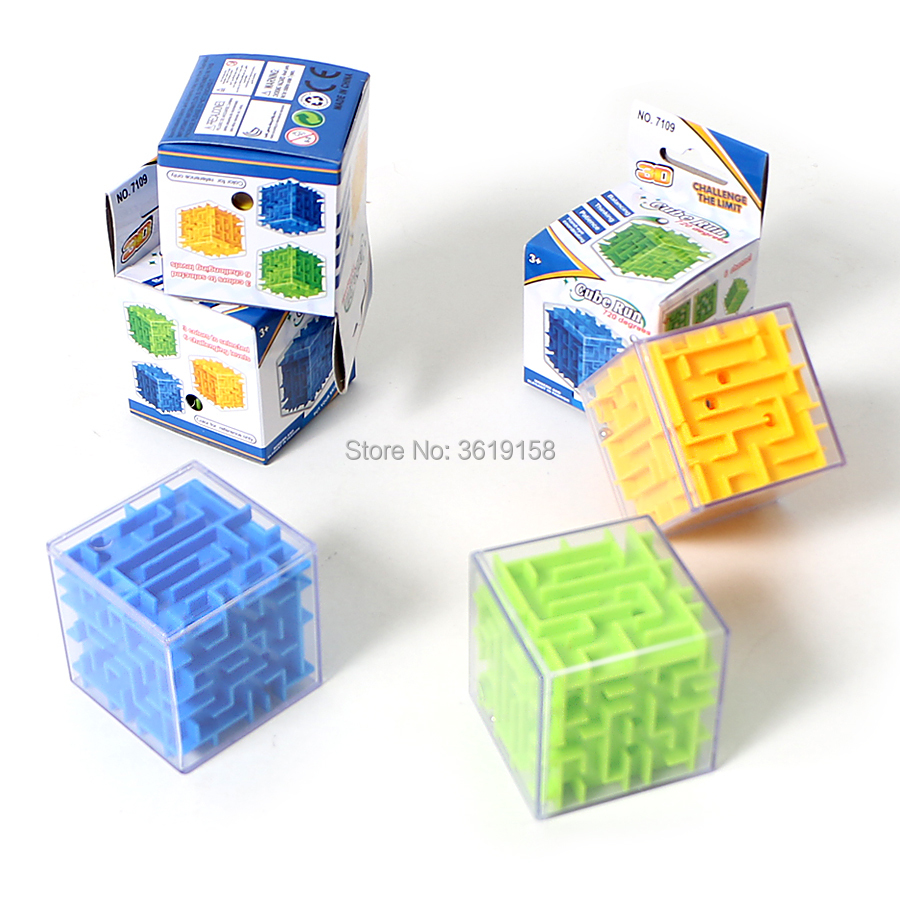 Puzzles & Games Cube Run 3D Intellect Puzzle Ball Maze Game for Children Educational Learning Toy