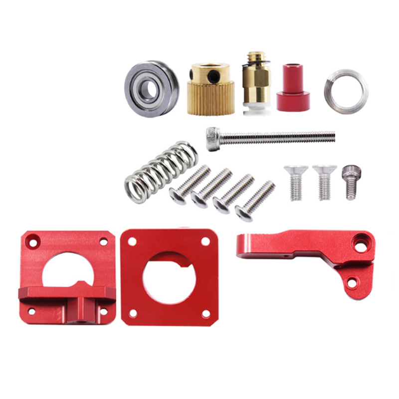 Kee Pang Mk8 Red Remote Extruder for 3D Printer Parts Upgrade MK8 full metal extruder 3D Accessories Wholesale
