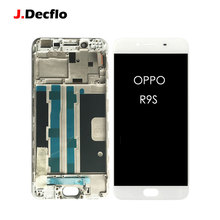 купить Replacement For OPPO R9S LCD Display + 100% Tested Touch Screen Digitizer Assembly with Frame Factory OEM 5.5 inch White дешево