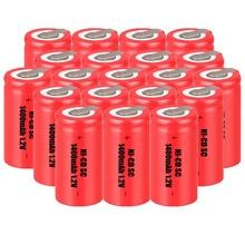 Низкая цена 20 шт. SC аккумуляторной батареи 1,2 В аккумуляторные батареи 1400 мАч nicd батареи для электроинструментов akkumulator