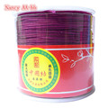 Purple 1MM 100Yards/roll Satin Rattail Nylon Cords/String Kumihimo Macrame Rope Chinese Knot Cord DIY Jewelry Findings